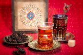 pic of hibiscus  - Hibiscus tea is traditional Arab hot drink - JPG