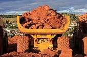 pic of dump-truck  - dump truck on a road construction site