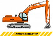 stock photo of excavator  - Detailed illustration of excavator - JPG