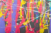 stock photo of acrylic painting  - Fragment abstract modern painting background with expressive splashes of paint - JPG