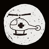stock photo of rescue helicopter  - Doodle Helicopters - JPG