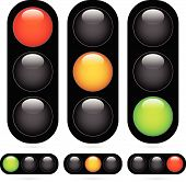 foto of traffic signal  - Eps 10 Vector Illustration of Traffic Light  - JPG