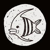 stock photo of angelfish  - Doodle Angelfish - JPG