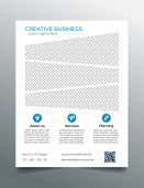 picture of prospectus  - Minimalistic modern business flyer template  - JPG