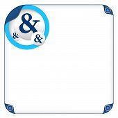 foto of ampersand  - color box for entering text and ampersand - JPG