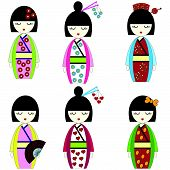 picture of hair bow  - Japanese inspired by Asian culture - JPG