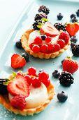 image of tarts  - berries tart - JPG