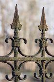 foto of wrought iron  - Old decorative rusted wrought - JPG