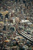 image of tilt  - Tokyo urban rooftop view background tilt - JPG