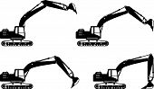 stock photo of excavator  - Detailed illustration of excavators - JPG