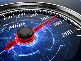 stock photo of chronometer  - High speed internet connection concept - JPG