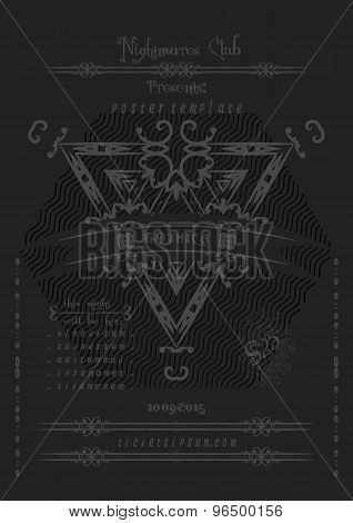 Rock Or Metal Music Concert  Poster Template