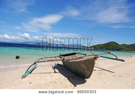 Banka on Banana Island, Coron, The Philippines