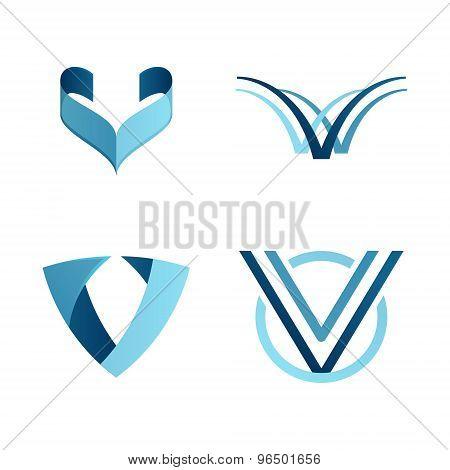 V Letter Volume Logo
