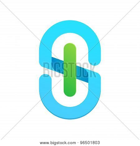 S Letter Eco Logo