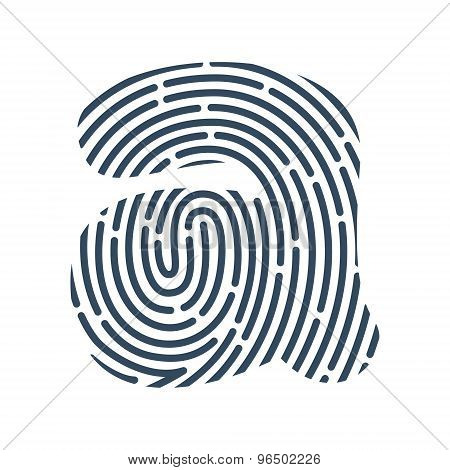 A Letter Line Logo. Vector Fingerprint Design.