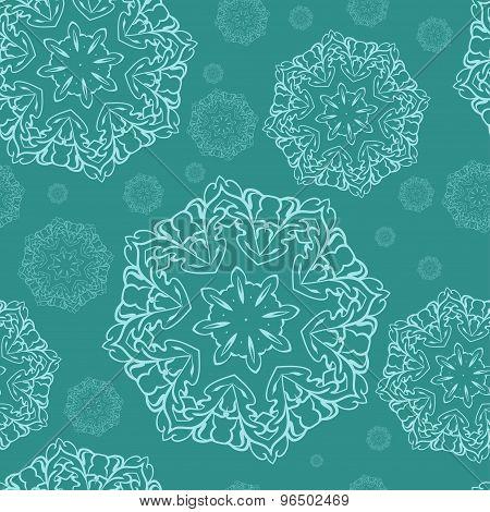 Vector Decorative  Christmas Snowflake. Backgraund