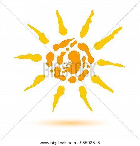 Sun-logo-spray-paint-embryo-child-birth-concept-of-life_