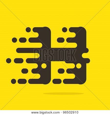 H Letter Logo Design Template.