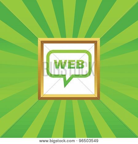 WEB message picture icon
