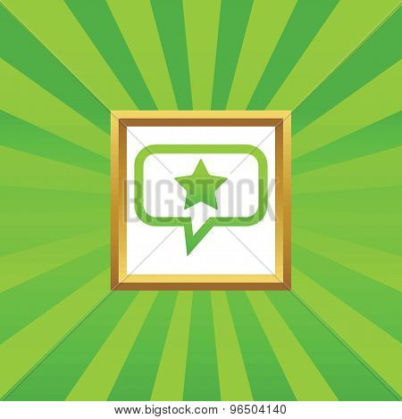 Star message picture icon