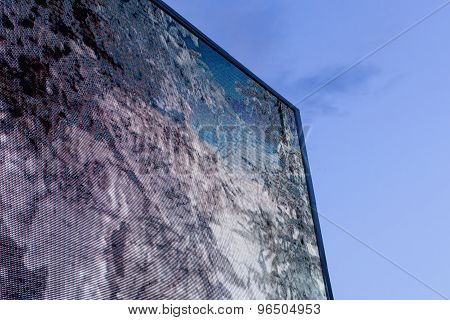 Large Outdoor Television Screen And Blue Sky