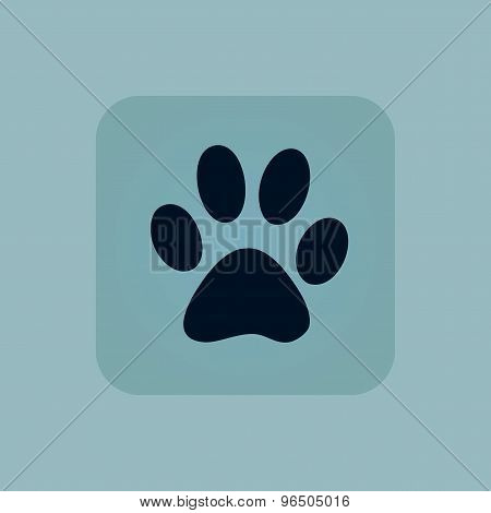 Pale blue paw icon