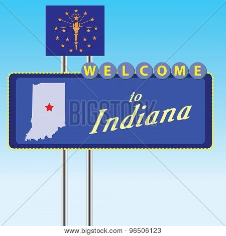 Stand Welcome To Indiana