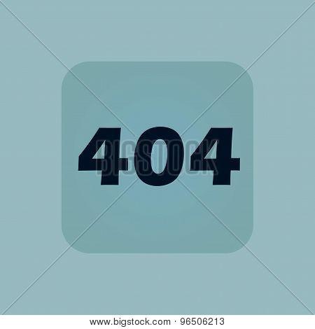 Pale blue error 404 icon