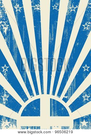 Greek vintage sunbeams. A vintage greek poster with sunbeams and a a texture for your advertising