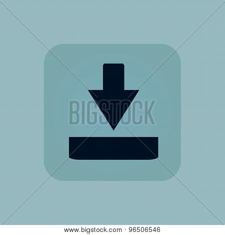 Pale blue download icon
