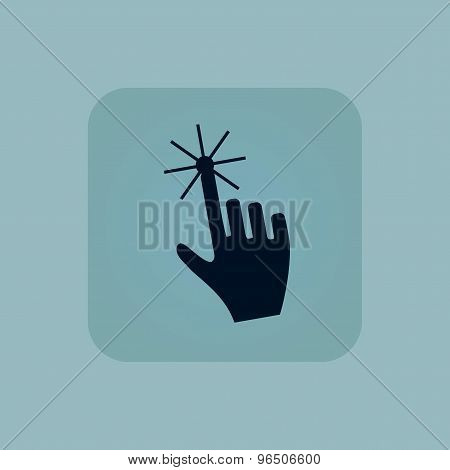 Pale blue hand cursor icon
