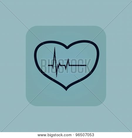 Pale blue cardiology icon