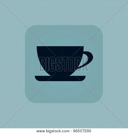 Pale blue cup icon