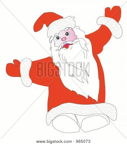 Santa Claus. Isolated On White