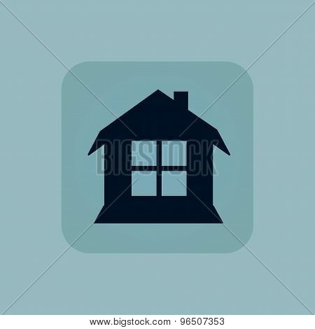 Pale blue house icon