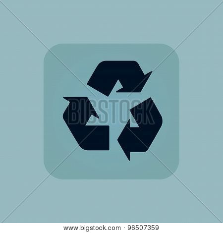 Pale blue recycle icon