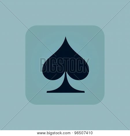 Pale blue spades icon