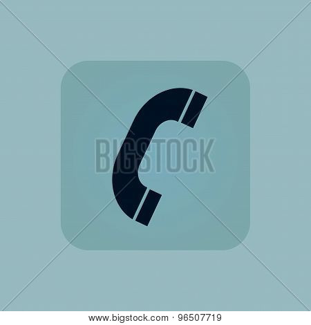 Pale blue call icon