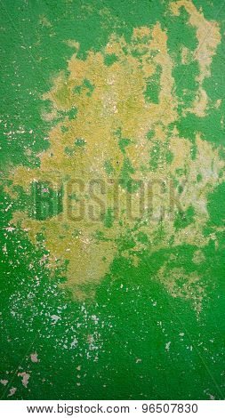 Decay Green Color Wall In Burano