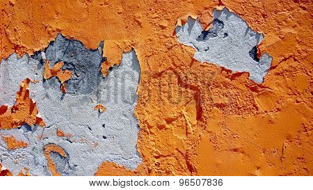 Decay Orange Color Wall