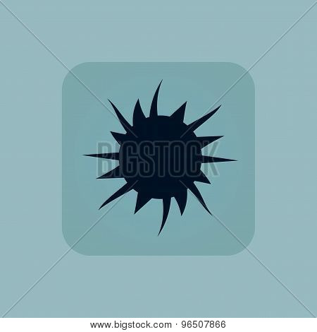 Pale blue starburst icon