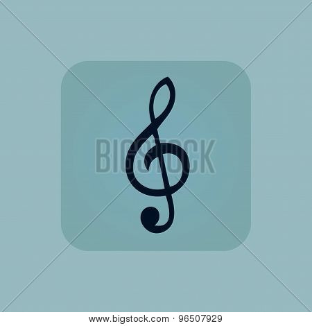 Pale blue music icon