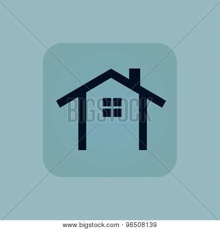 Pale blue cottage icon