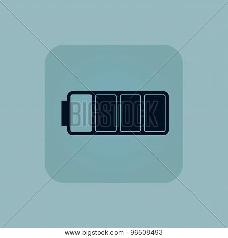 Pale blue almost battery icon