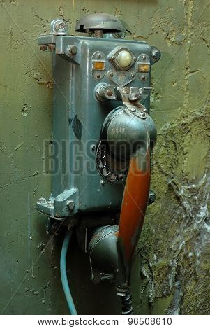 Rusty Scratched Ancient Phone From Soviet Union Submarine