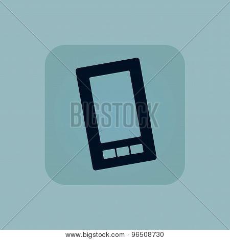 Pale blue smartphone icon