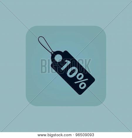 Pale blue discount icon