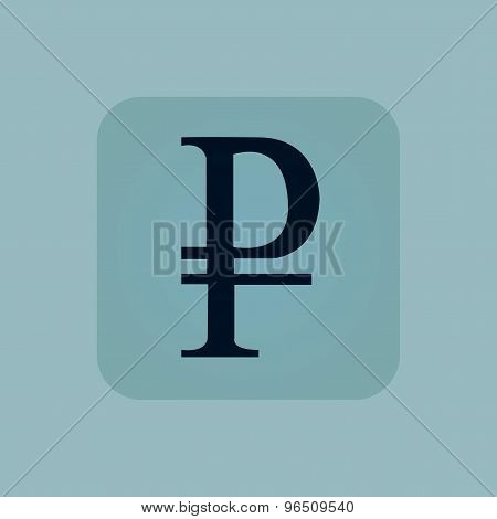 Pale blue ruble icon