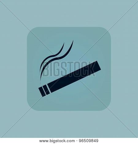 Pale blue smoking icon